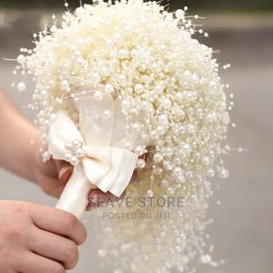Pearl Studded Bridal Bouquet | Wedding Wear & Accessories for sale in Lagos State, Ikoyi