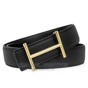 Men's Luxury Belt H Letter Head Layer Cowhide Lychee Pattern | Clothing Accessories for sale in Lagos State, Lekki
