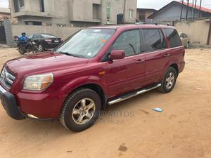 Honda Pilot 2006 EX 4x4 (3.5L 6cyl 5A) Red | Cars for sale in Lagos State, Ifako-Ijaiye
