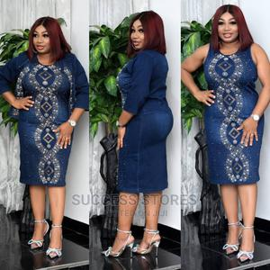 New Female Quality Turkey Fully Stoned Jeans Gown Jacket   Clothing for sale in Lagos State, Lagos Island (Eko)