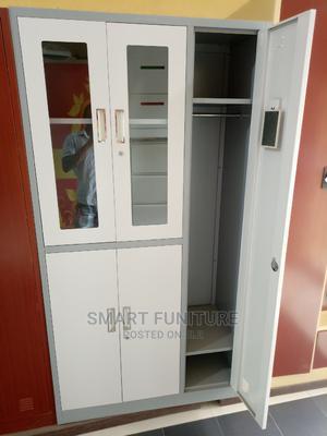 High Quality Half Glass Metal Wardrobe   Furniture for sale in Lagos State, Lekki