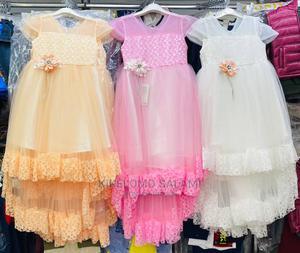 Girls Turkey Hi- Low Dress   Children's Clothing for sale in Lagos State, Alimosho