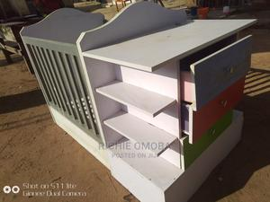 Baby Bed,With Side Draws,Change Diaper, Come With Mattress | Children's Furniture for sale in Abuja (FCT) State, Lugbe District