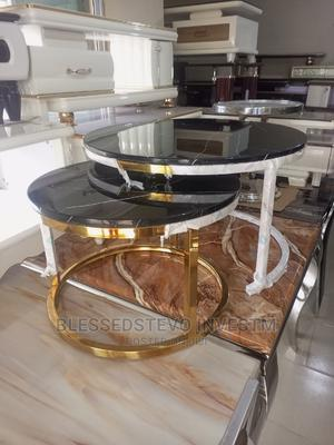 Marble Gold Round Table | Furniture for sale in Lagos State, Ajah