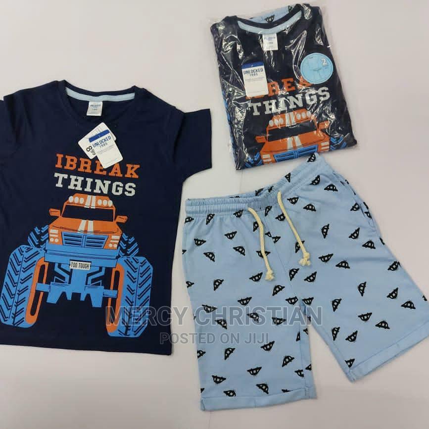 U.K Brand Boys T-Shirt Terry Short Pant Set