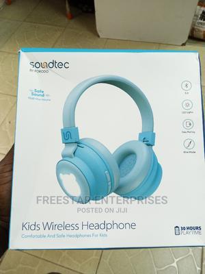 Soundtec by Porodo Kids Wireless Bluetooth Headphones.(Blue) | Headphones for sale in Lagos State, Ikeja