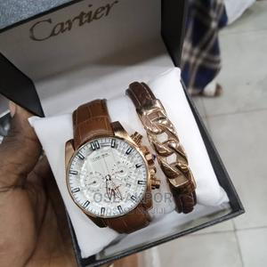 Luxury CARTIER LEATHER WATCH With Bracelet | Watches for sale in Lagos State, Ikorodu