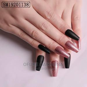 Original 24 Pieces With Glue Reuseable Press on Nails | Bath & Body for sale in Edo State, Auchi