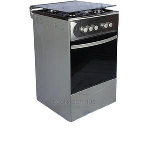 Maxi 50x50 4burner Standing Gas Cooker, Auto Ignition Inox | Kitchen Appliances for sale in Lagos State, Ikeja