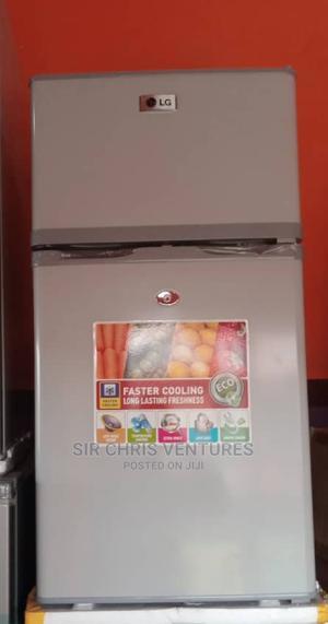 LG Silver Colour Fridge Double Doors Freezer Up | Kitchen Appliances for sale in Lagos State, Lekki