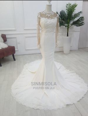 Ivory Colour Mermaid Wedding Dress For Size 12/14 | Wedding Wear & Accessories for sale in Lagos State, Agege
