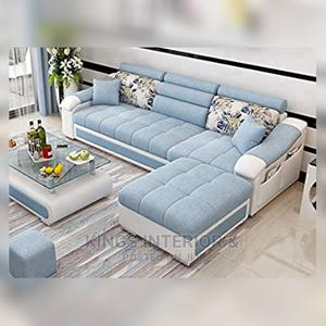 L-Shaped Sofa With an Ottoman and a Center Table   Furniture for sale in Lagos State, Surulere