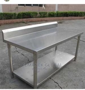 Strong Stainless Working Table 5ft.   Restaurant & Catering Equipment for sale in Lagos State, Ojo