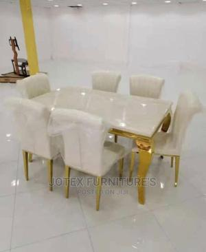 Marble Dining Table by 6 Seaters   Furniture for sale in Lagos State, Amuwo-Odofin