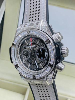Top Stone Quality HUBLOT Leather Wrist Watch | Watches for sale in Lagos State, Lagos Island (Eko)