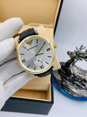 Men's Leather Wristwatch   Watches for sale in Lagos State, Ifako-Ijaiye