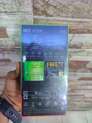 New Infinix Hot 10 Play 32 GB Blue   Mobile Phones for sale in Lagos State, Victoria Island