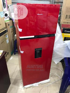 Brand New HISENSE Double Door Refrigerator,Dispenser,Red   Kitchen Appliances for sale in Lagos State, Ojo