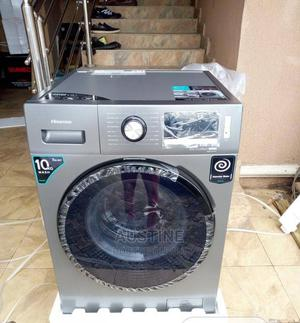 Brand New HISENSE 10KG Washing Machine, Front Loader, Silver | Home Appliances for sale in Lagos State, Ojo