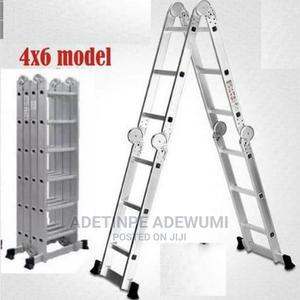 4x6 Multipurpose Aluminium Ladder-24ft | Hand Tools for sale in Lagos State, Alimosho