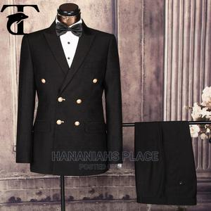 Black Double Breasted Suit   Clothing for sale in Abuja (FCT) State, Central Business District