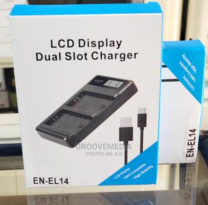 USB Dual Battery Charger With LCD for Nikon EL14 Battery | Accessories & Supplies for Electronics for sale in Lagos State, Ikeja