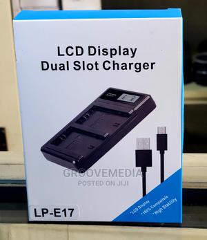 USB Dual Battery Charger With LCD for Canon E17 Battery | Accessories & Supplies for Electronics for sale in Lagos State, Ikeja