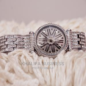 Lookworld Ice Stone Silver Wrist Watch for Ladies   Watches for sale in Lagos State, Ikeja