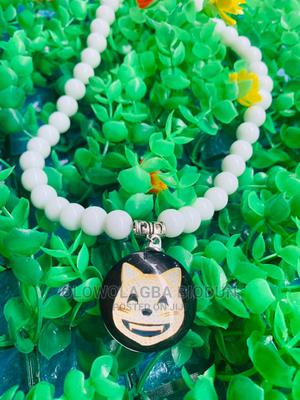 White Pearl Bead Necklace Pendant    Jewelry for sale in Lagos State, Lagos Island (Eko)
