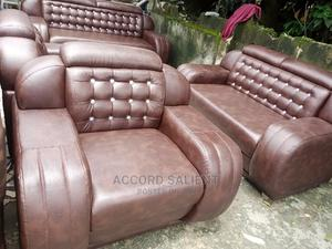 7 Seater Leather Sofa   Furniture for sale in Rivers State, Port-Harcourt