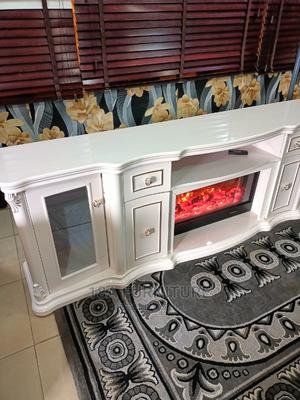TV Stand Design Imported With Fire Display Inside | Furniture for sale in Osun State, Ife