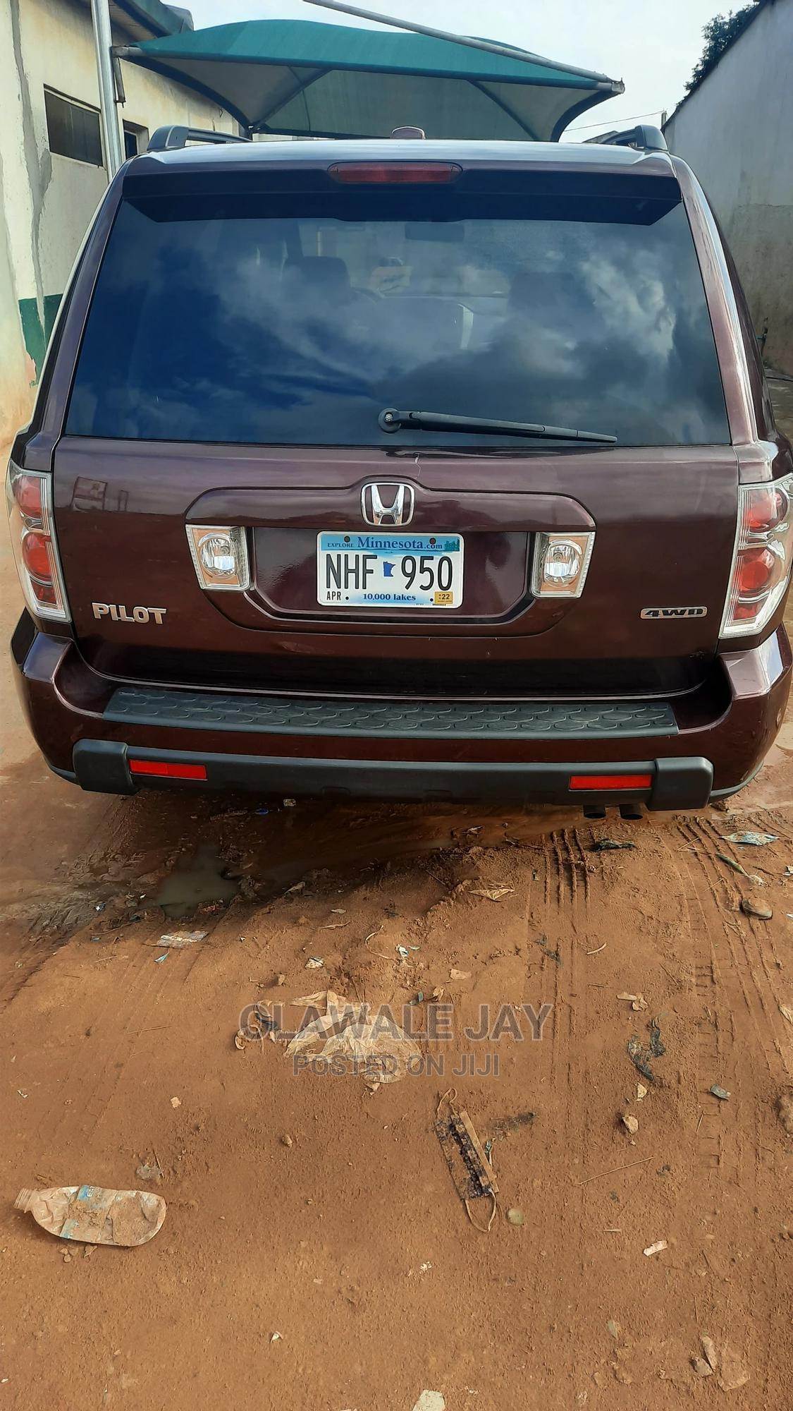 Honda Pilot 2007 EX 4x4 (3.5L 6cyl 5A) Brown | Cars for sale in Ojodu, Lagos State, Nigeria