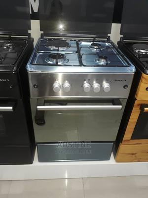 Brand New MAXI 3+1(60×60)Standing Gas Cooker,Stainless Steel | Kitchen Appliances for sale in Lagos State, Ojo