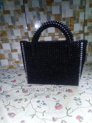 A White and Black Portable Beaded Bag   Bags for sale in Niger State, Minna