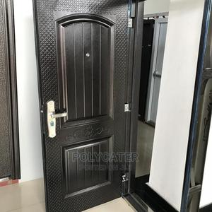 3ft 70mm High Quality Iron Door With Stopper   Doors for sale in Lagos State, Orile