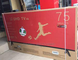 Lg 75 Inches Smart 4k Television (Internet Connection) | TV & DVD Equipment for sale in Lagos State, Surulere