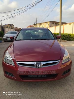 Honda Accord 2007 Sedan EX-L Automatic Red | Cars for sale in Lagos State, Ikeja