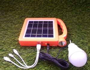 Rechargeable Solar Lamp With Bulb And Usb Port | Solar Energy for sale in Oyo State, Ibadan