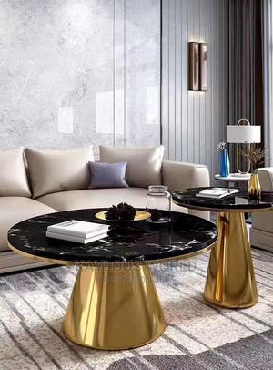 Golden Centre Table and Side Stool | Furniture for sale in Lagos State, Lagos Island (Eko)