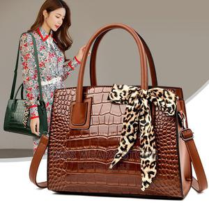 Office Leather Handbag With Scarf | Bags for sale in Lagos State, Abule Egba