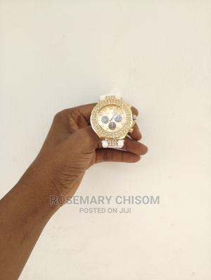 Unisex Beautiful Gold Colour Wrist Watch.   Watches for sale in Lagos State, Ikeja