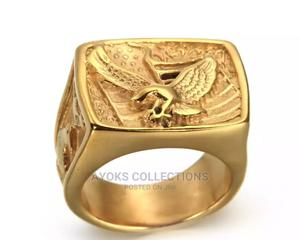 Masonic Men's Vintage Stainless Steel Gold Ring. | Jewelry for sale in Lagos State, Lagos Island (Eko)