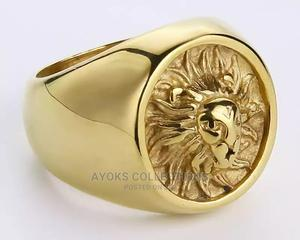 Punk Masonic Men's Vintage Stainless Steel Gold Ring. | Jewelry for sale in Lagos State, Lagos Island (Eko)