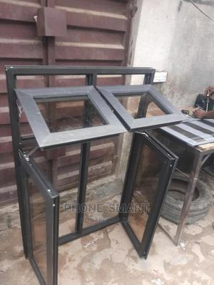 Gray Casement Windows With Fix Light | Windows for sale in Lagos State, Ifako-Ijaiye