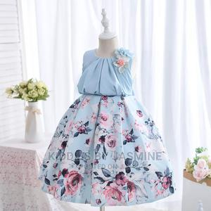 Big Girl Luxury Flowery Gown - Powder Blue | Children's Clothing for sale in Lagos State, Alimosho