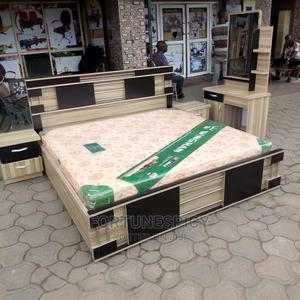 Classic 6 by 6 Designed Wooden Bed(Complete Set) | Furniture for sale in Lagos State, Lekki