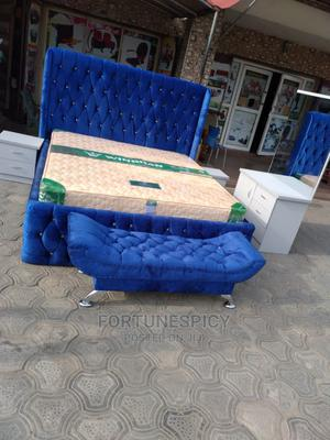 Classic 6 by 6 Upholstery Bed (Complete Set ) | Furniture for sale in Lagos State, Lekki