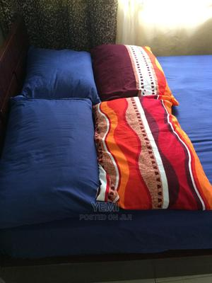 Complete Wooden Bed, 12-Inches 4x6ft Mattress, 4 Pillows | Furniture for sale in Abuja (FCT) State, Kubwa