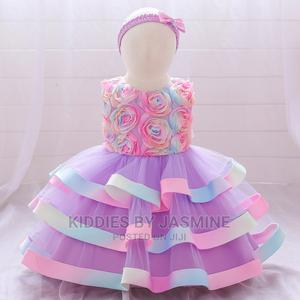 Baby Girl Colorful Cake Birthday Gown | Children's Clothing for sale in Lagos State, Alimosho