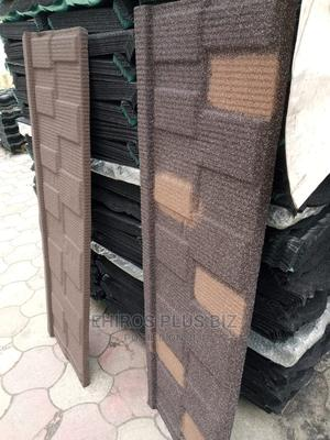 0.55 Tiger Brown Shingle Stone Coated Roof Tiles in Nigeria | Building Materials for sale in Lagos State, Ikoyi